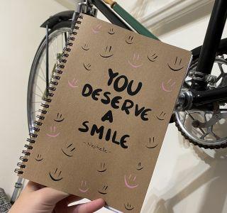 Σετ 3 τετράδια - YOU DESERVE A SMILE